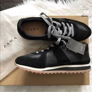 Zara Shoes | Zara Contrasting Sneakers